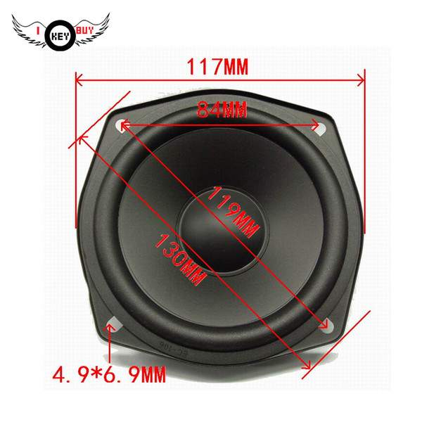 top popular I Key Buy High-Quality 4.5 Inch Waterproof 8 ohm Bass Speaker 117MM RMS 30W Car Midrange Speakers 2021