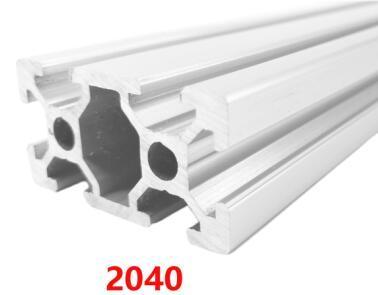 CNC 3D Drucker Teile 2040 Aluminiumprofil Europäische Norm Eloxierte Linearschiene Aluminiumprofil 2040 Extrusion 2040 cnc-Teil
