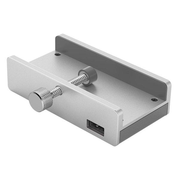 Clip Design USB 3.0 HUB avec lecteur de cartes en alliage d'aluminium Clip de type pince 3 ports à grande vitesse pour diviseur Hub pour ordinateur portable de bureau