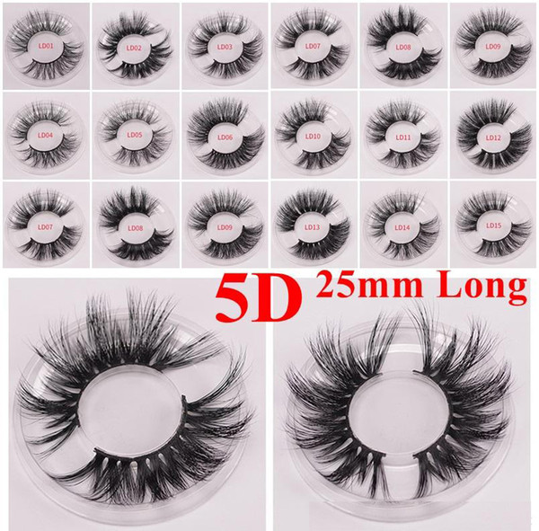 3D Mink Eyelash 5D 25mm Long Thick Mink Lashes with eye lash packaging box eyes makeup maquillage