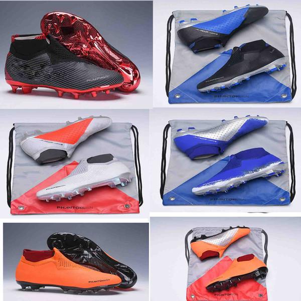 NUOVO colore originale Phantom Vision Shadow Elite DF FG VSN Game Over Mens High Tacchetti da calcio alla caviglia Scarpe da calcio Taglia US6,5-11