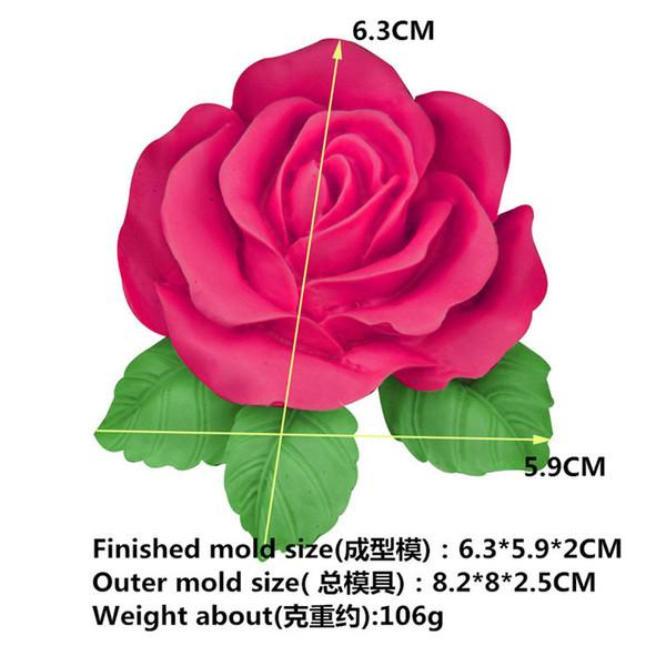 Bloom Flower 3D Form Rose Fondant Savon silicone gâteau moule de petit gâteau bonbons chocolat décoration de gâteau Outil de cuisson Dentelle Moisissures