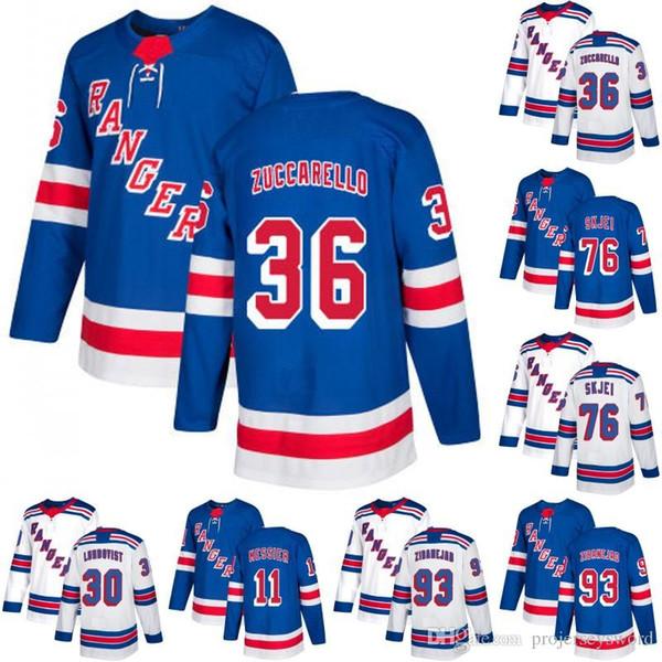 timeless design da824 080c9 2019 New York Rangers Jersey 20 Chris Kreider 30 Henrik Lundqvist 36 Mats  Zuccarello 76 Brady Skjei 93 Mika Zibanejad Hockey Jerseys From  Jerseyplant, ...