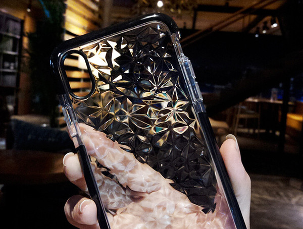 Für Iphone 11 XR XS MAX X Fall-Art- und weichen Silikon-Stoß- Abdeckungs-Schutz-Kristallbling Funkeln Gummi TPU klarer Fall