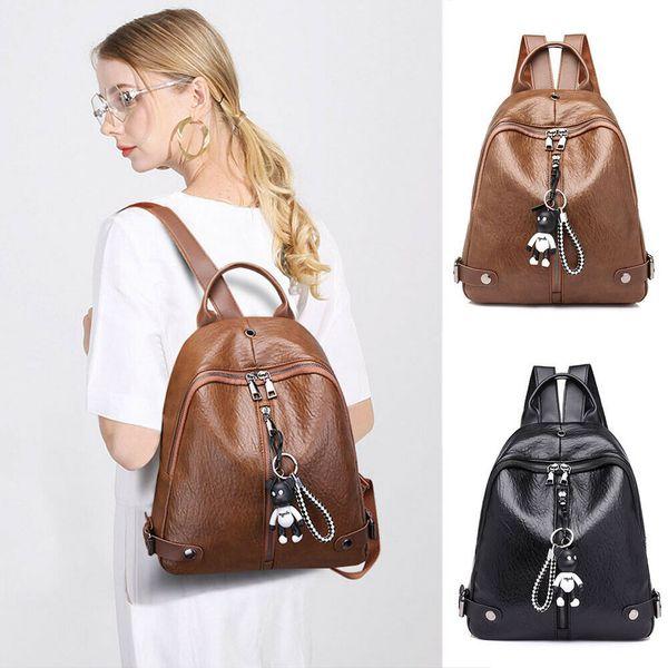 Hot Women Big Backpack Travel Leather Handbag Rucksack Crossbody School Bags