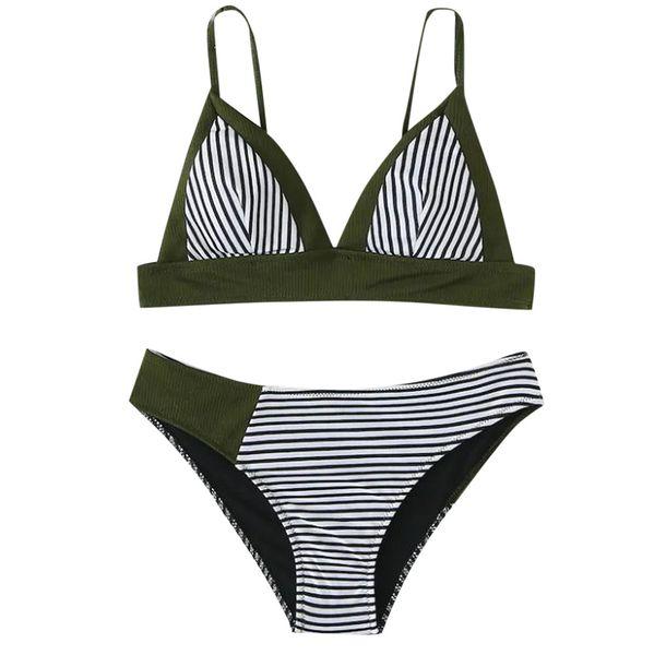 bikini 2019 push up two piece swimsuit Women Girls Bikini Set Padded Sexy Beach brazilian Striped women's swimming suit 2019