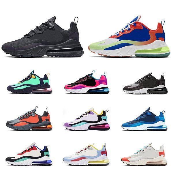 Compre Nike Air Max 270 React Los Hombres Corriendo Zapatos De Calidad Superior BAUHAUS OPTICAL AZUL VOID Moda Para Hombre Zapatillas Deportivas