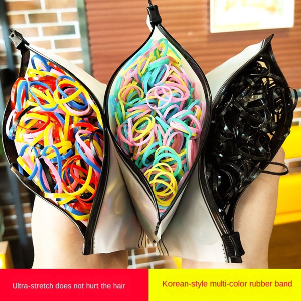 best selling High elasticity candy color disposable tpu Pi Jin 1000 Chicken bags hair rope binding children's hair rope binding available