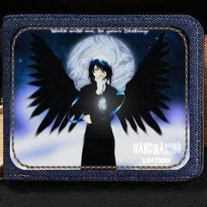 Air Gear wallet Cool fly sport purse Noyamano Ringo cartoon short cash note case Money notecase Leather jean burse bag Card holders