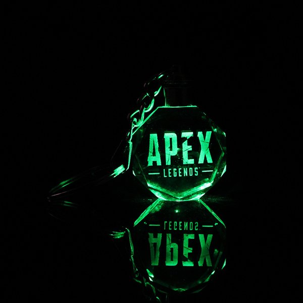 Apex Legends led kids toys props and classic gift keychain Cool metal crystal gem pendant Game Animation Accessories CNY1098