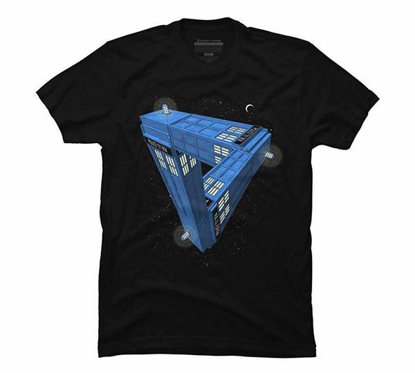 İmkansız Çağrı Kutusu erkek Siyah Grafik T Shirt Kısa Kollu Pamuk T-Shirt Adam Giyim Moda Klasik En Tee Artı Boyutu
