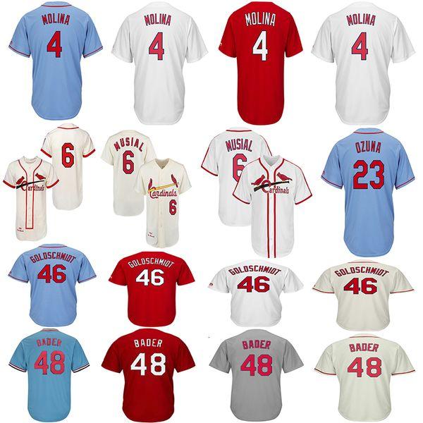 ST. LOUIS 4 Yadier Molina CARDINALS Trikots 46 Paul Goldschmidt 48 Harrison Bader 23 Marcell Ozuna 6 Stan Musial Baseball Trikots