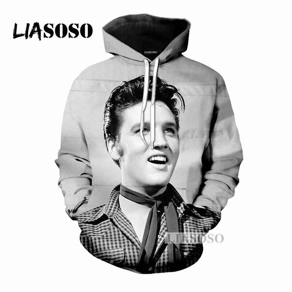 LIASOSO Winter Männer Frauen Mode Sweatshirt 3D Print Sänger Elvis Presley Hoodies Beiläufige Langarm Hip Hop Top Pullover M054-5