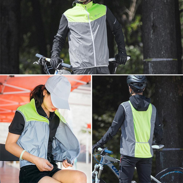 top popular Sleeveless Jackets Clothing Top Reflective Bike Cycling Vest Safety Polyester Jersey Windproof Unisex Summer Night Riding 2020