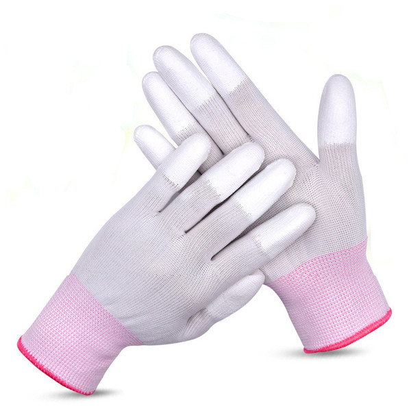 10Pair PU Coated Palm Anti static Gloves ESD Electronic Non-slip Working Gloves Phone Repair PC Fix Finger Top Protection Tools