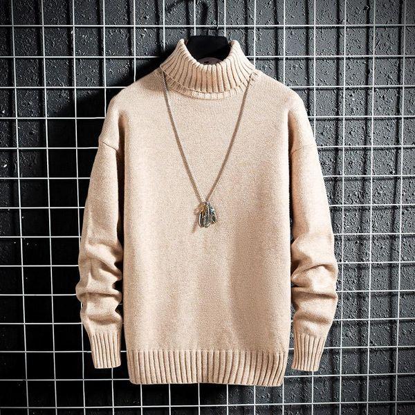 2019 Новая зима кашемировый свитер мужчин с длинным рукавом Водолазка мужской моды пуловеры Вязаные Keep Warm мужские свитера Рождество