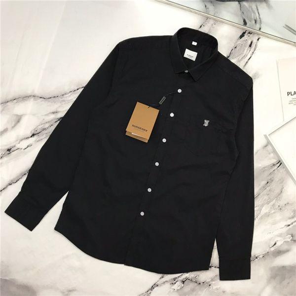 19fw новый роскошный дизайн бренда bbr сплошной цвет TB вышивка рубашка блузка Мужчины Женщины Мода Повседневная Уличная Толстовка На Открытом Воздухе Футболки