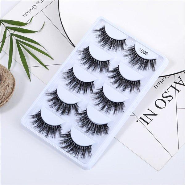 5 Pairs 3D Mink Hair Natural Cross False Eyelashes Long Messy Makeup Fake Eye Lashes Extension Make Up Beauty Tools