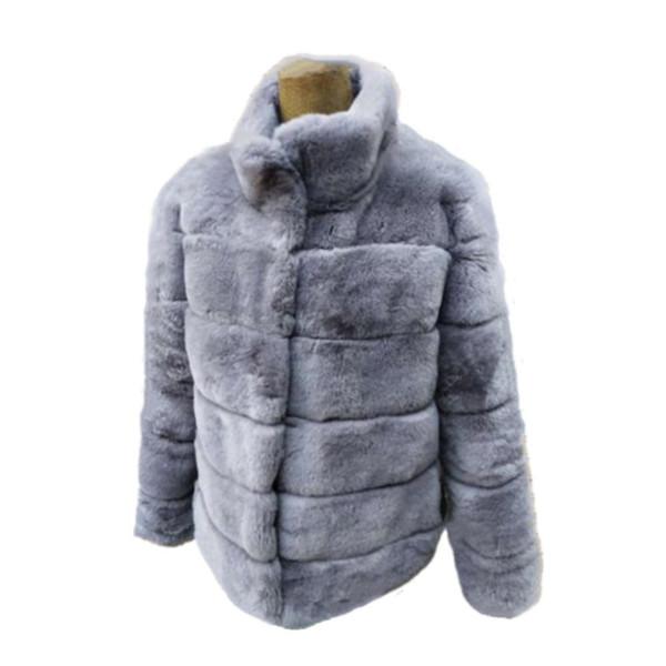 Cappotto di volpe caldo in pelliccia sintetica a maniche lunghe da donna con collo Cappotto in pelliccia sintetica casual invernale