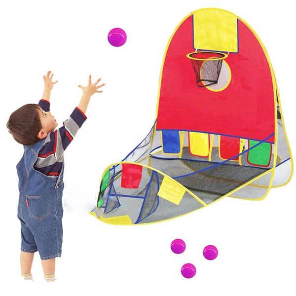 Children Toy Tent Play House Basketball Basket Tent Ocean Ball Pool Outdoor Indoors Sport Kids Toys Beach Lawn Play Tent Scoring