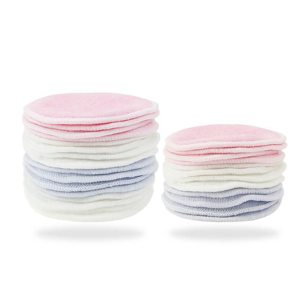 16PCS detergente per il viso Makeup Remover Pad Make up efficacemente Nail Art Mascara rotonda pratiche labbra Bamboo Fiber Wipes riutilizzabile