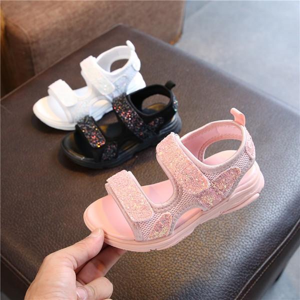Crianças Sapatos 2019 Verão Moda Bebê Meninas Sandálias Elásticas Antiderrapante-Resistente Ao Desgaste-Sapatos de Praia Da Criança Crianças Verão Lazer Sandálias