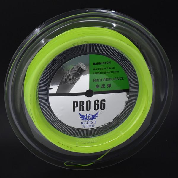 Preço de fabricante Big Banger Pro66 0.66mm Badminton String Reel 200 m