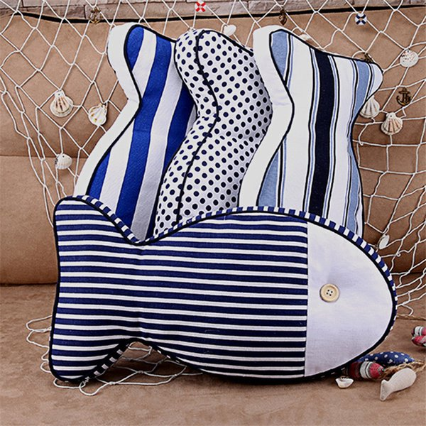 New Design Cute Fish Decorative Cushion Throw Pillow With Inner Home Decor Sofa Car Bed Emulational Toys as Kids Gift