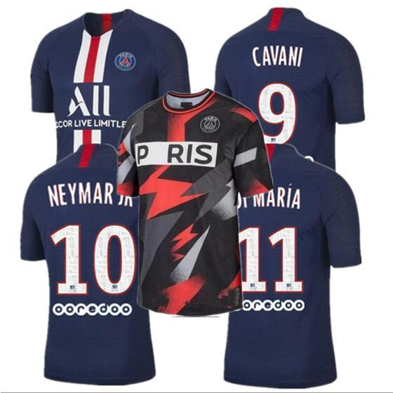 Tailandia maillots PSG camiseta de fútbol 2019 2020 París MBAPPE CAVANI VERRATTI camiseta de fútbol de Saint Germain hombres mujeres campeones de la liga uniformes