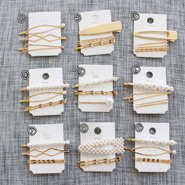 New Arrival 3Pcs/Set Pearl Metal Hair Clips Women Hairpin Girls Hairpins Barrette Bobby Pin Hairgrip Hair Accessories Drop ship