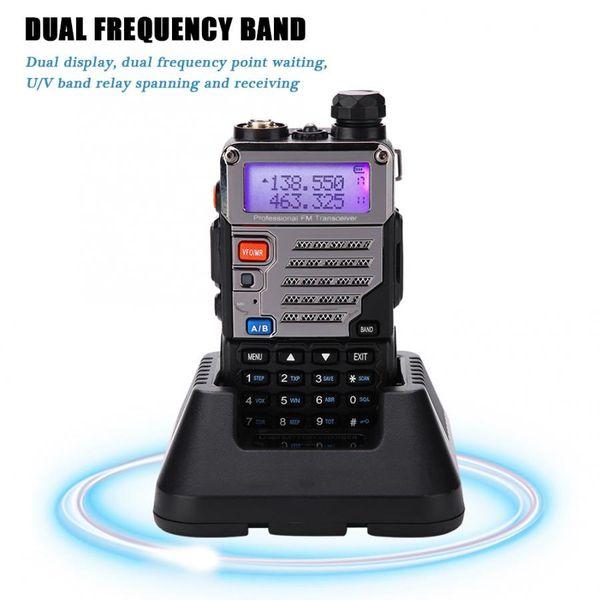 NOUVELLE Radio Portable Portable1Pcs Uhf Vhf Dual-128Chtwo Manière Radio Interphone Eu Plug 100-240V