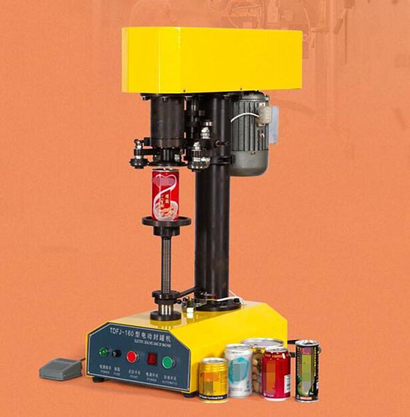 Halbautomatische Blechdose Verschließmaschine kleine Lebensmittelkonserven Seamer für Obst / Fisch / Bohnen / Tomate / Bier / trockenes Kraut Smartbud Metall Kunststoffdose