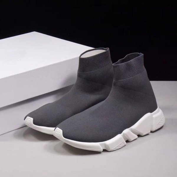 2019 New Paris Luxury Sock Shoe Speed Casual Shoes Sneakers Speed Trainer Sock Race Fashion Shoes Mens Women Fall Winter Boots Free v22