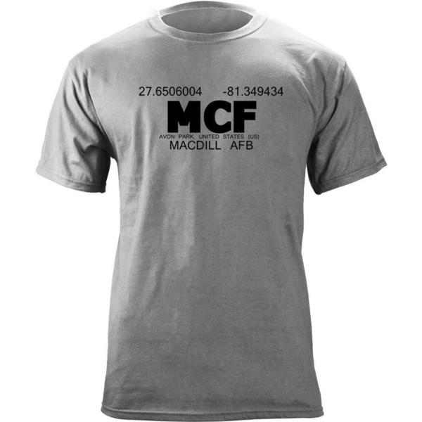 Orijinal MacDill Hava Kuvvetleri Bankası Koordinatlar Emektar T-ShirtFunny ücretsiz kargo Unisex Rahat Tshirt