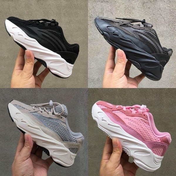 Kids 2019 Shoes Wave Runner 500 700 Running Shoes Baby Boy Girl Trainer Kanye West V2 Sneakers Children Athletic Shoes With Box