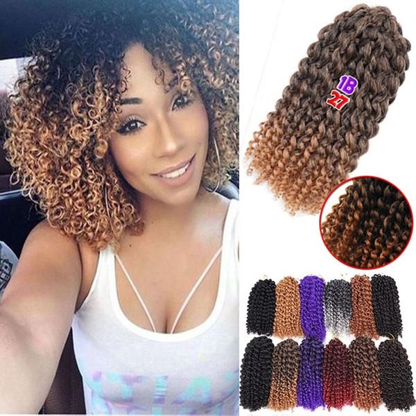 Hot Sales Curly Crochet Hair Braids Bohemian Braiding Hair Synthetic