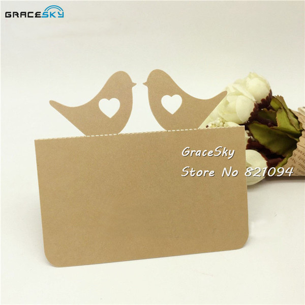 Laser Cutting Wedding Invitation Cards Love Birds Design Wedding Party Rsvp Cards Table Place Name Card Message Greeting Cards Birthday Wall