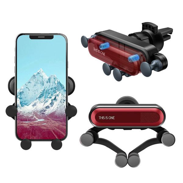 Universal Car Phone le un support Mount Auto Air Vent Grip Gravity Support de voiture Support Gravity Support pour téléphones cellulaires Smartphone