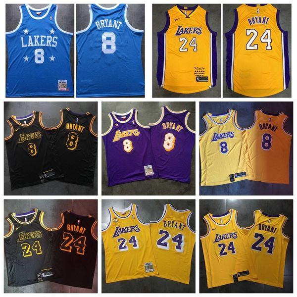 24 8 KobeBryant Los AngelesLakers Mitchell & Ness 1996-97 HardwoodClassics PlayerNBA Basketball Jersey Stitched