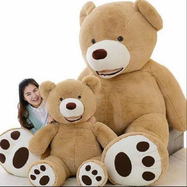 Costco gigante americano Teddy Bear Life Size bambola Big Huge Giocattoli di peluche degli animali farciti Peluches Kids Love San Valentino 100 centimetri 130 centimetri 160 centimetri