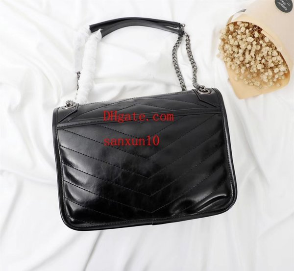 Ladies bag new T front flap bag, super large capacity oil wax leather sell like hot cakes