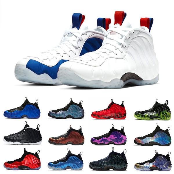 Nike AIR FOAMPOSITE one pro Alternatif Galaxy Légion Vert Air Aubergine Chaussures de basketball Penny Hardaway Island Vert métallisé Or Rouge Université Rouge Baskets 8-13