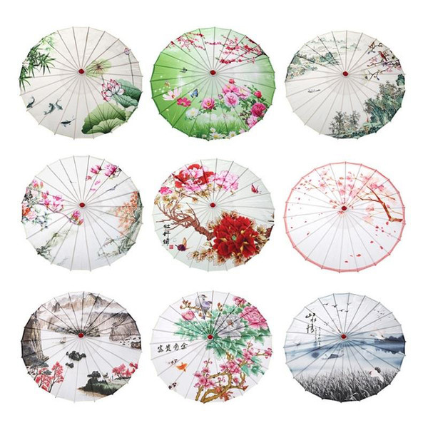 Vintage Retro Chinese Oilpaper Umbrella Wedding Decorative Umbrellas Handmade Craft Umbrella Women Dance Performance Props
