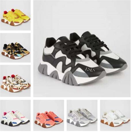 concepteur squalo sneakers de luxe de Chaussures Hommes chaussures de mode Femmes Runner SQUALO Sneakers Black Leopard White Suede formateurs en cuir s1