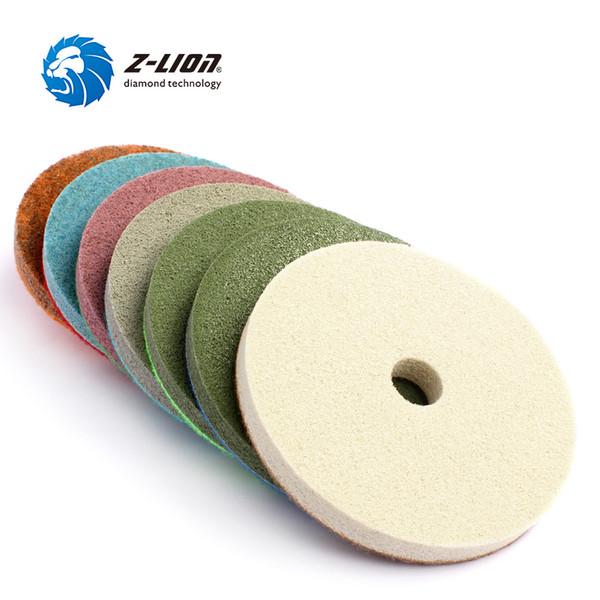 Z-LION 5 Diamond Sponge Polishing Pads 10000 Grit for Granite Marble Stone Clean 2 Pcs
