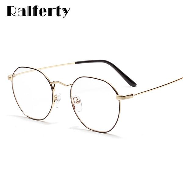wie man kauft tolle Passform suche nach authentisch Großhandel Ralferty Runde Brille Frauen Durchsichtige Brille Optische  Myopie Korrektionsbrillen Nullpunkt Eyewear Oculos W3315 Von Desertrose,  $40.3 ...