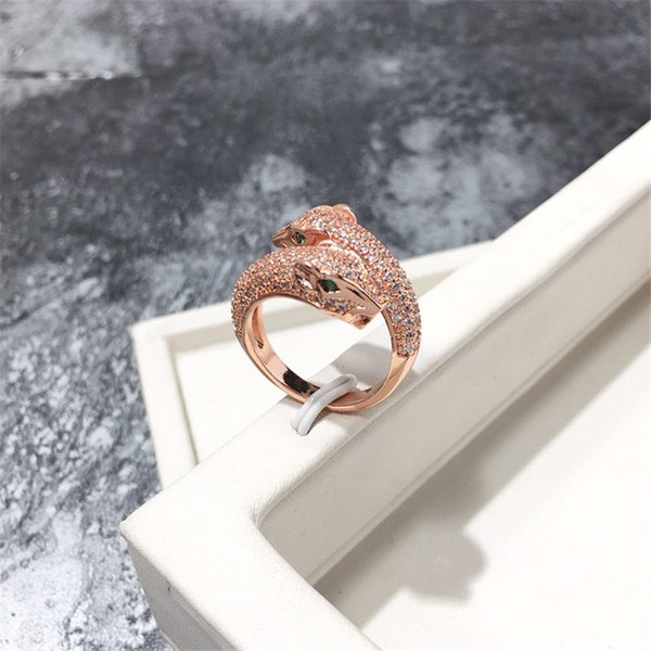 Fashion Design Animals Rings Men Women Luxury Full Diamond Animal Ring Unisex Gold Silver Rings High Quality Fine Jewelry Couple Gifts