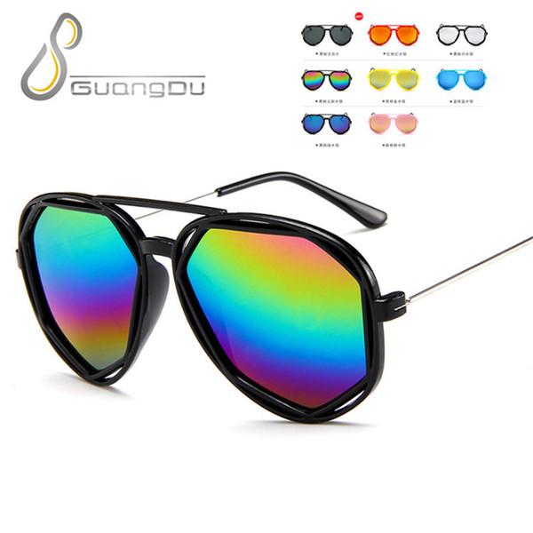 2018 nouveau soleil enfant lunettes de soleil Childen mode carré garçons filles enfants bébé sécurité lunettes de lunettes miroir UV400 lunettes de fête