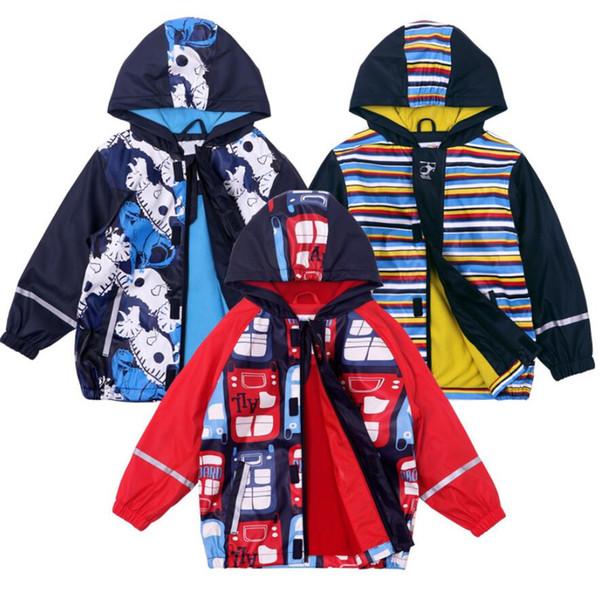 Boys Windproof Waterproof Jacket,Children Hoodies,boy Outerwear,girl Clothes,Kids winter fleece raincoat 2-6T