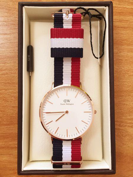 2019 brand Daniel Wellington women mens dw WATCHes fashion nylon strap style 40mm rose gold mens watches with gift box Bracele relojes mk